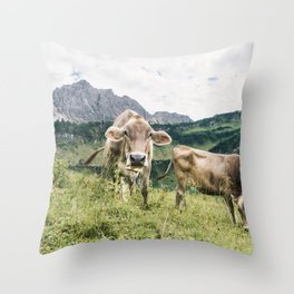 HAPPY COWS Throw Pillow