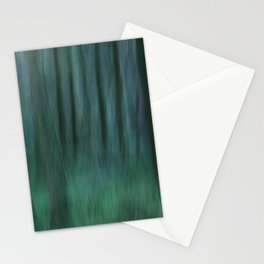 Painted Trees 2 Aqua Stationery Cards