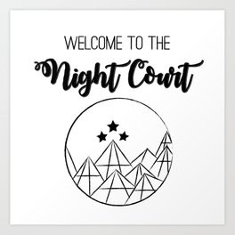 Welcome to the Night Court | Acomaf Art Print