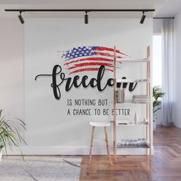 Freedom 4th of July Wall Mural