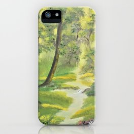 Happy forest with animals iPhone Case