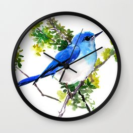 Mountain Bluebird Wall Clock