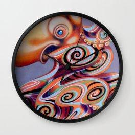 psychedelic octopus Wall Clock