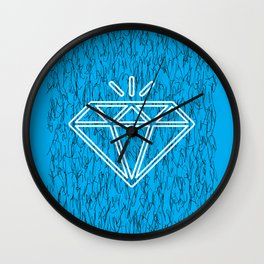 diamond cyan Wall Clock