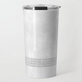 Black and White Arrows Travel Mug