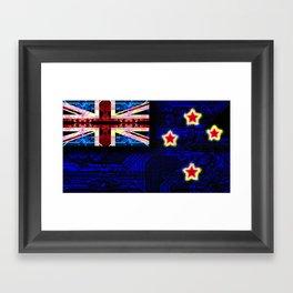 circuit board new zealand (flag) Framed Art Print