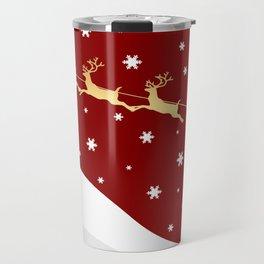 Red Christmas Santa Claus Travel Mug