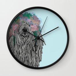 Dredlock Dog (Pastel Blue Edition) Wall Clock