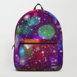 Whimsical abstract purple pink orange geometrical Backpack