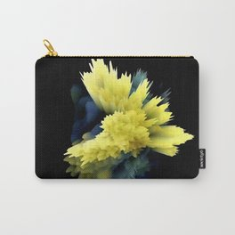 yellow indigo blue flower abstract 3d painting Carry-All Pouch