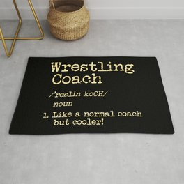Wrestling Coach Gift I Greco Roman I Cool Definition Rug