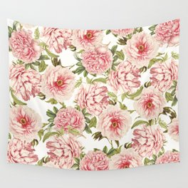 old fashioned peonies Wall Tapestry