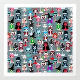 Spooky Dolls Art Print