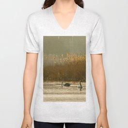 Lake of swans Unisex V-Neck