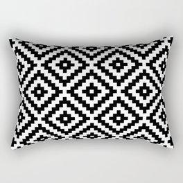 Aztec Block Symbol Ptn BW I Rectangular Pillow