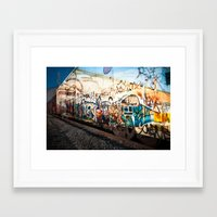 grafitti Framed Art Prints featuring Grafitti Train by Squint Photography