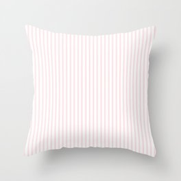 Light Millennial Pink Pastel Color Mattress Ticking Stripes Throw Pillow