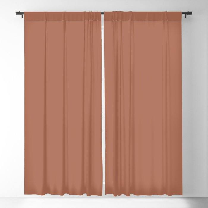 Sherwin Williams Color of the Year 2019 Cavern Clay SW 7701 Solid Color Blackout Curtain