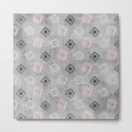 Contemporary Concrete Grit Pattern Metal Print