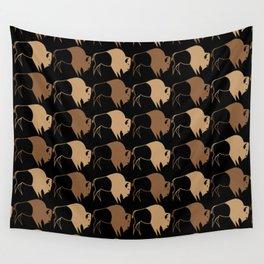 Native American Buffalo Running Wall Tapestry