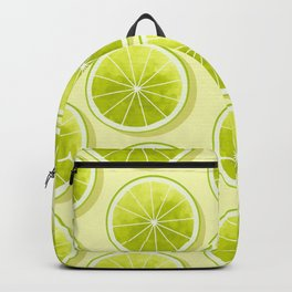 Lime Slices on Light Yellow Backpack