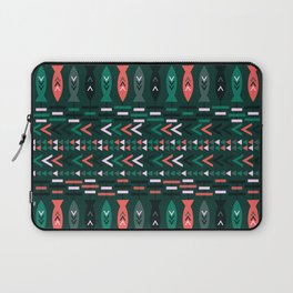 Fish aztec pattern- green Laptop Sleeve