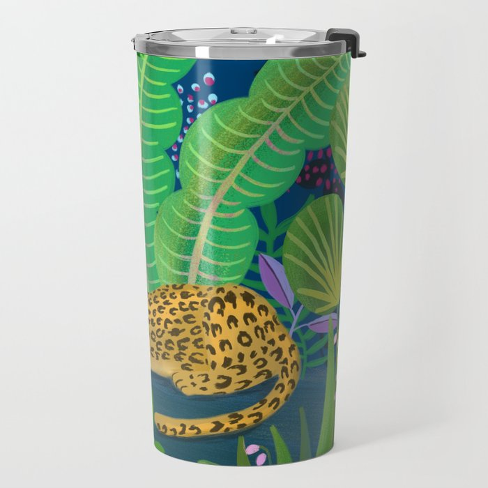 Jungle Leopard in the Evening Travel Mug