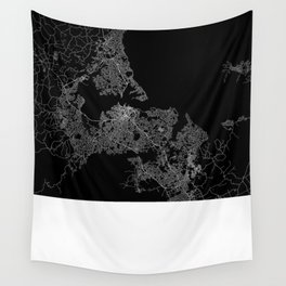 Auckland map New Zeland Wall Tapestry