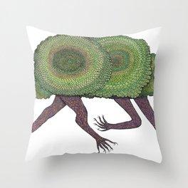 Creeping Shrubbery Throw Pillow