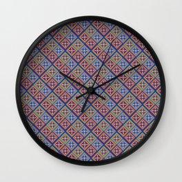Red blue Itak Wall Clock