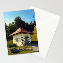 Small chapel up on the mountain Stationery Cards