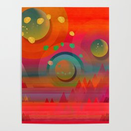 """Sci-fi Pop Landscape"" Poster"