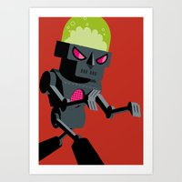 robot Art Prints featuring Robot by Marco Recuero