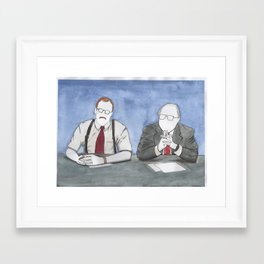 """Office Space - """"The Bobs"""" Framed Art Print"""