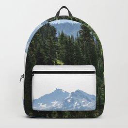 Mount Rainier Adventure - Pacific Northwest Mountain Forest Wanderlust Backpack