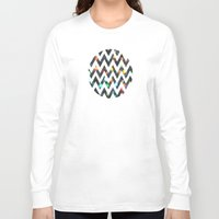 sparkles Long Sleeve T-shirts featuring Chevron Sparkles by ParadiseApparel