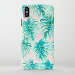 Paradise Palms Blush iPhone Case