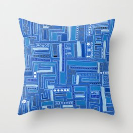 Bloo-bloo-bee-doo! Throw Pillow