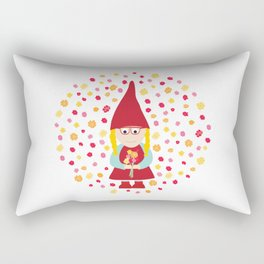gnome girl with flowers Rectangular Pillow