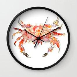 Corail crab Wall Clock