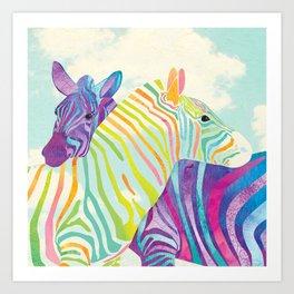Shanti Sparrow: Lola and Frankie the Zebras Art Print