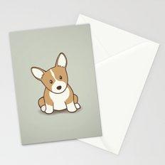 Welsh Corgi Puppy Illustration Stationery Cards