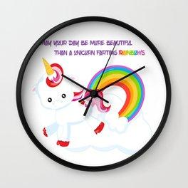 Unicorn Farts and Beautiful days Wall Clock