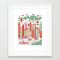 hong kong Framed Art Prints featuring Hong Kong by Rafael Macho