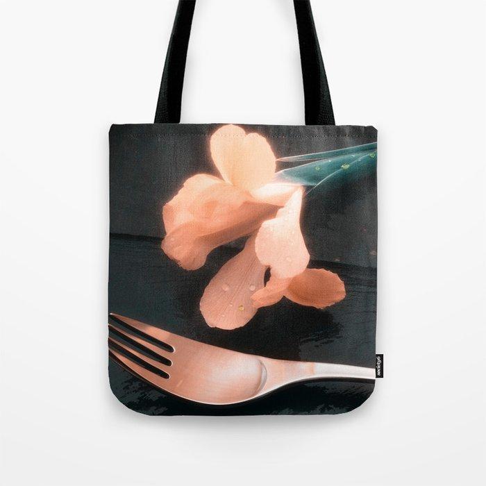 Flowers on Slate, variation 4 Tote Bag