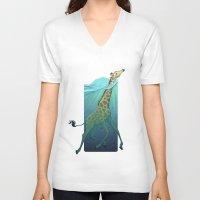 breathe V-neck T-shirts featuring Breathe by Tim Kaminski