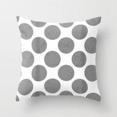 Gray Polka Dot Throw Pillow