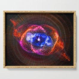 The Eye of God - Cats Eye Nebula Serving Tray