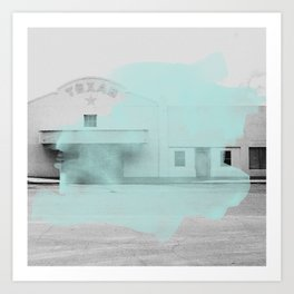 Blue Texas / Marfa Art Print