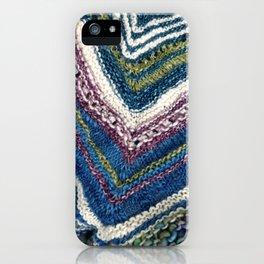 Waves of Knitting Shawl iPhone Case